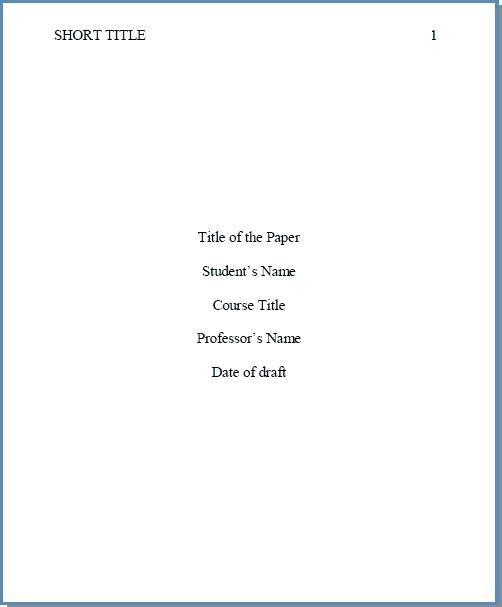8 Free APA Title Page Templates [MS Word]