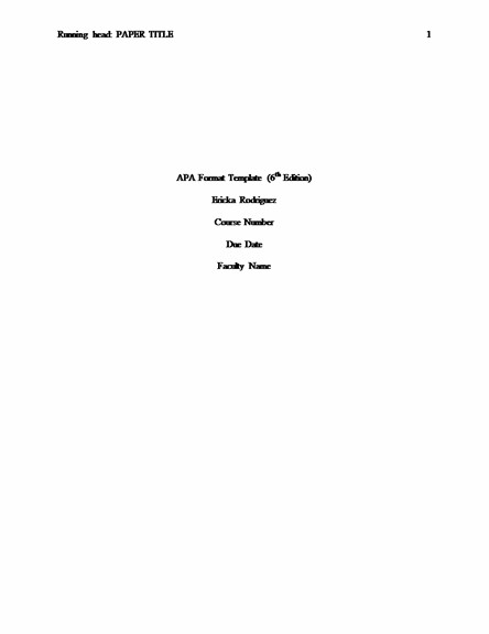 picture of of an apa title page | APA Essay Help with Style and