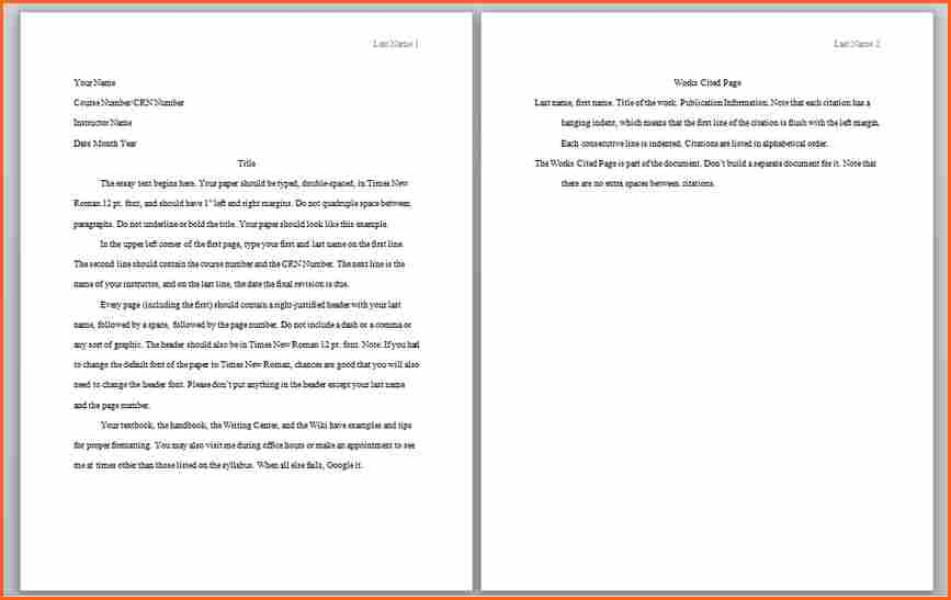 Apa 6 th edition sample paper format template inspirational