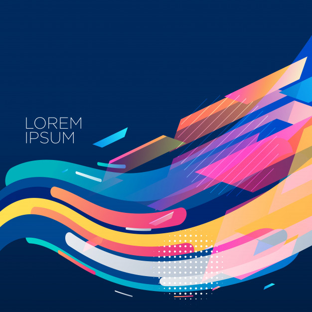 Stylish colorful wave background design Vector | Free Download