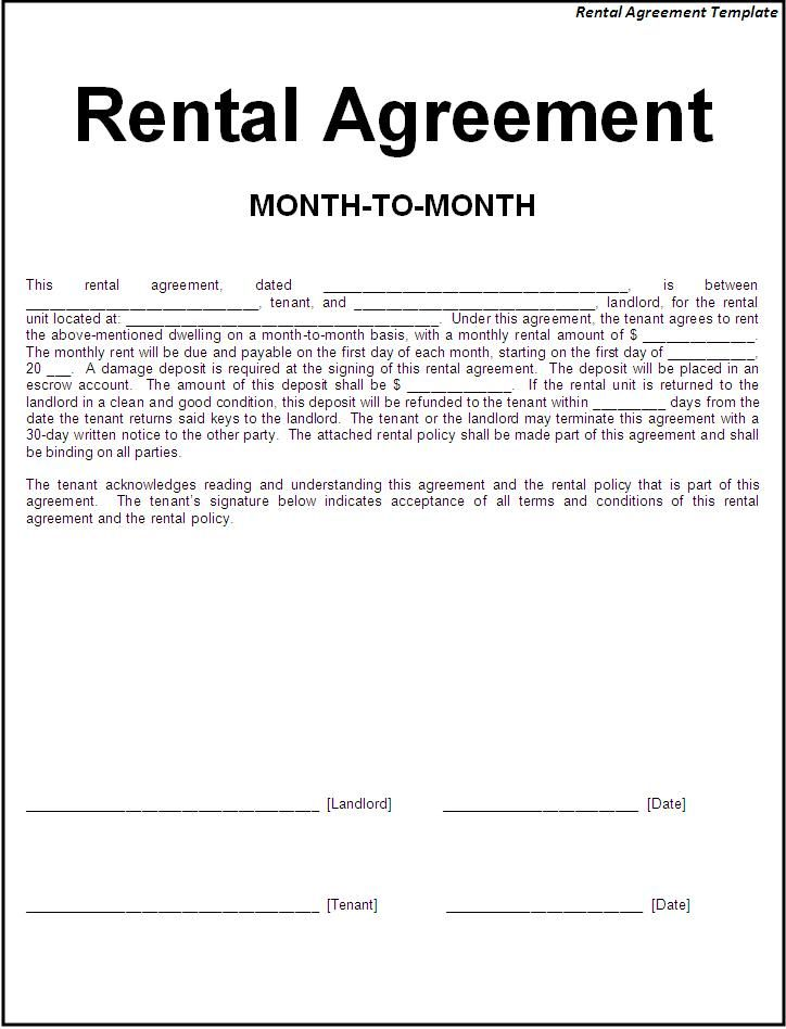 rental agreements templates renters agreement template basic