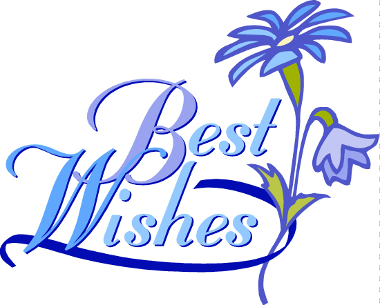 Best Wishes Vector Greeting Card With Hand Lettering. Modern