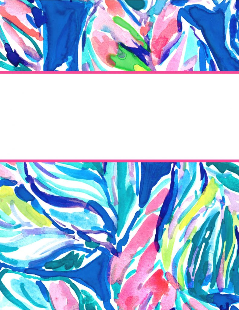 Lilly Pulitzer Binder Covers 2017 — Free, Cute, Printable Binder