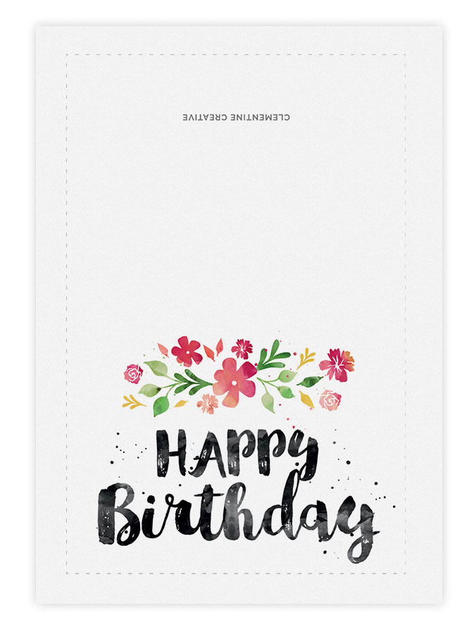 prinable birthday cards printable birthday card spring blossoms