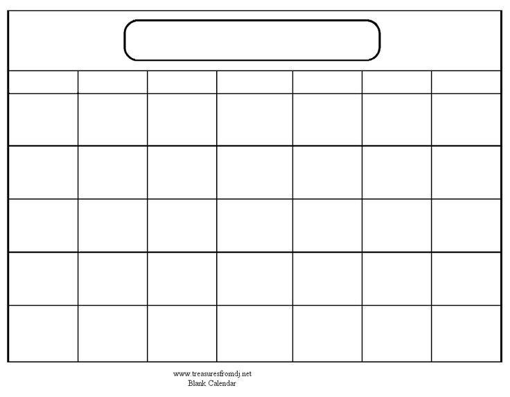 blank one month calendar template family binder printables blank