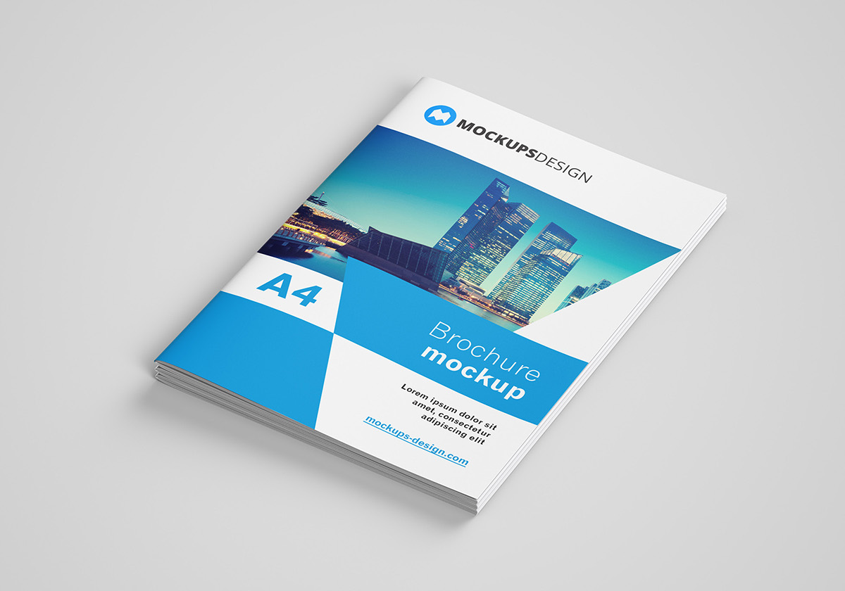 Free A4 brochure mockup on Behance