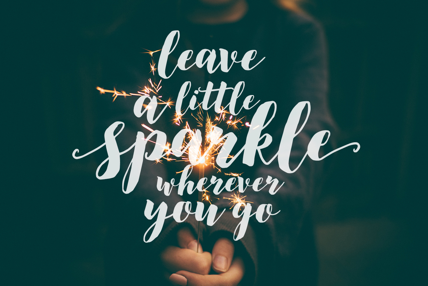 Modern, brush calligraphy font December Sparks by SkylaDesign