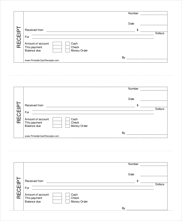 Free Receipt Forms