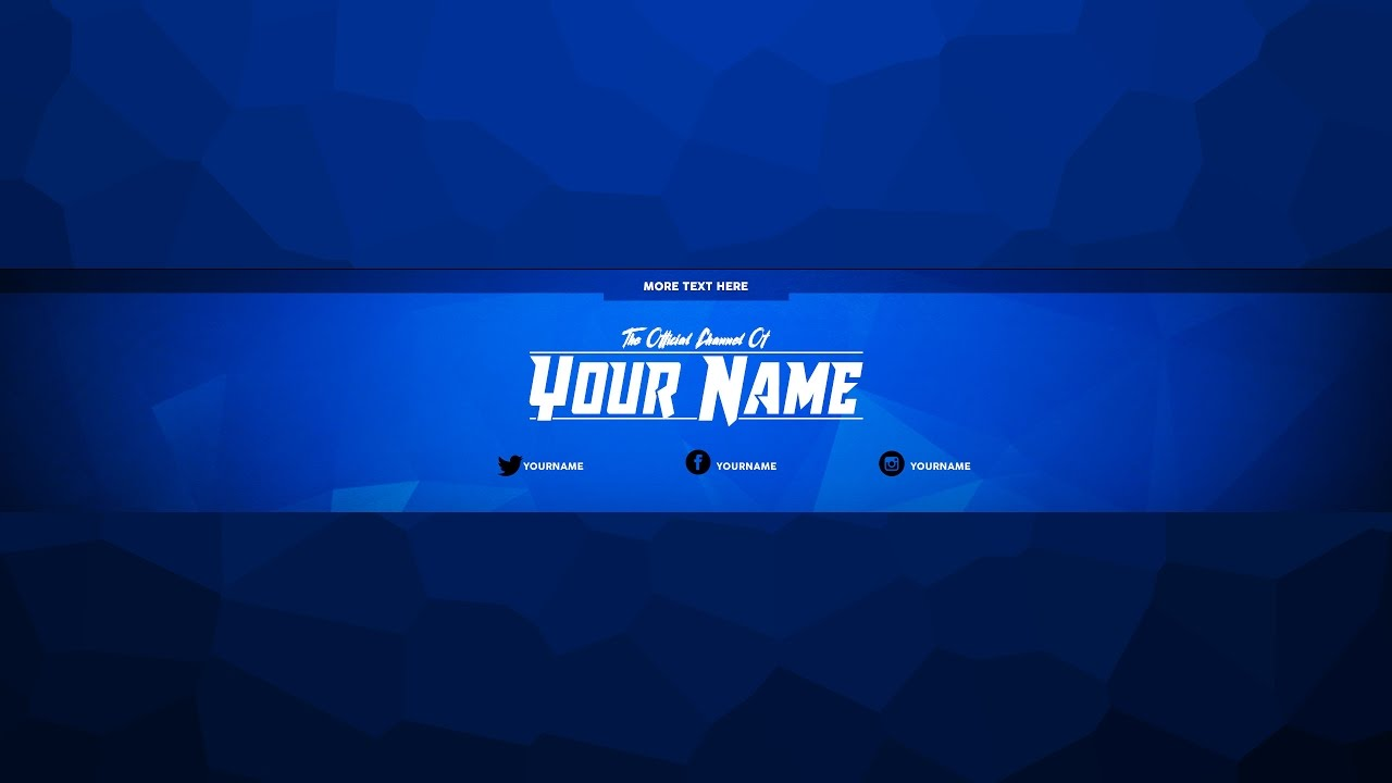 YouTube Channel Art Template | FREE YouTube