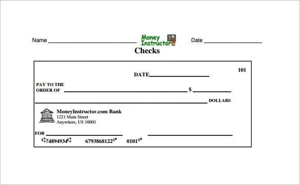 Blank Check Template – 28 Free Word, Psd, Pdf & Vector Formats