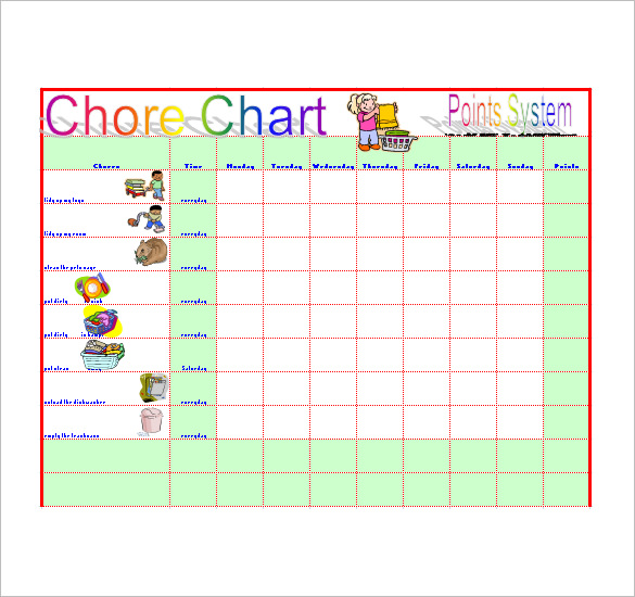 Chore List Template 10+ Free Word, Excel, PDF Format Download