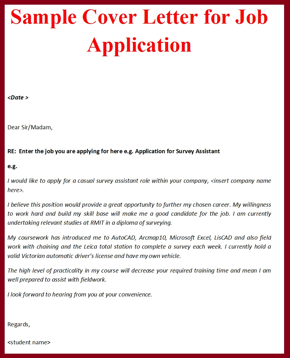 Email cover letter sample for job application | Resume Samples