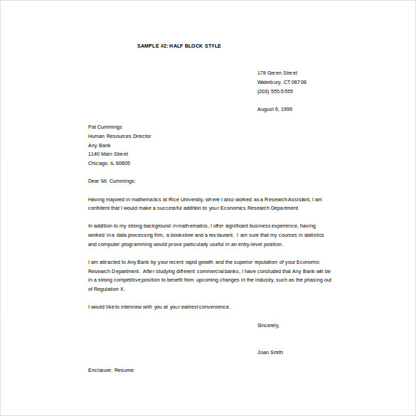 Email Cover Letter Template – 8+ Free Word, PDF Documents Download