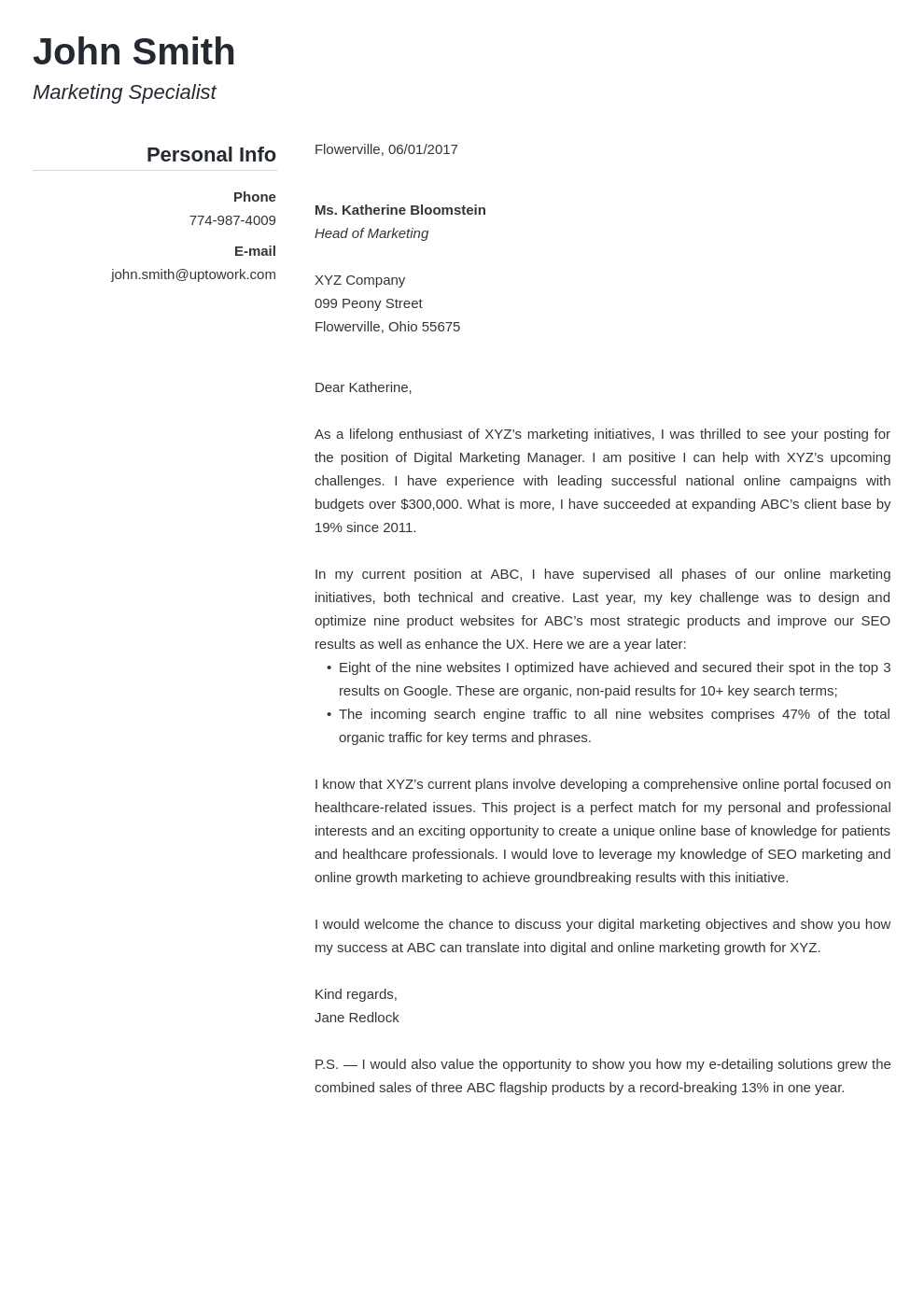 Outline For Cover Letters Popular Template Of Cover Letter