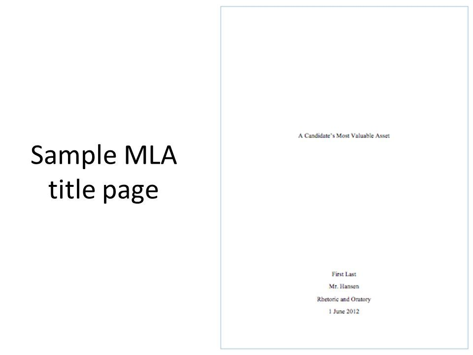 book report title page