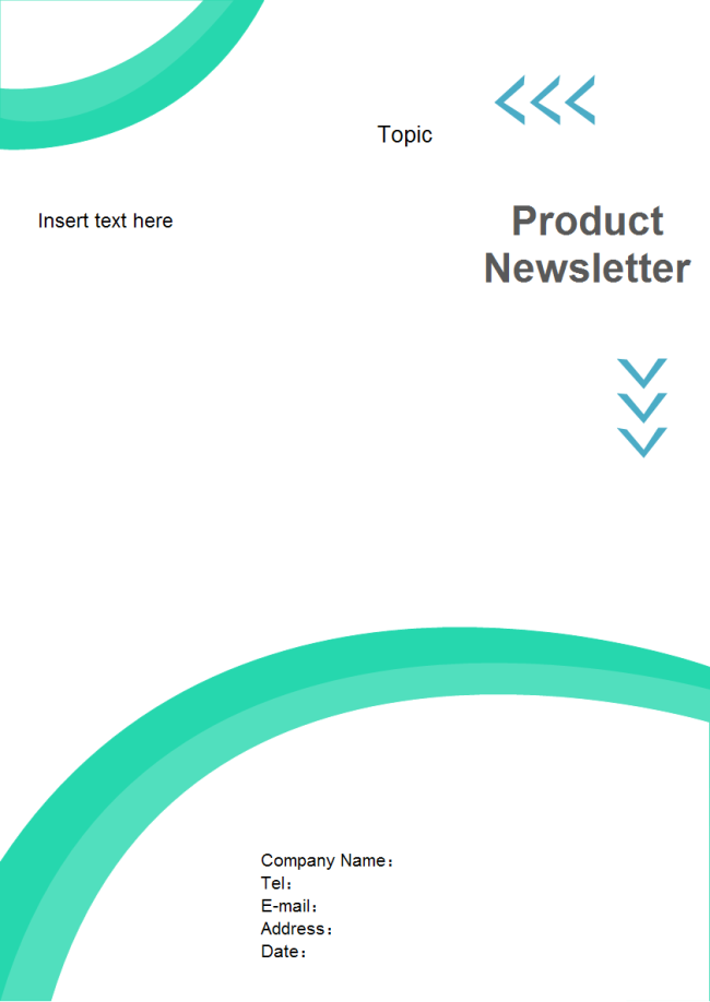 Newsletter Cover Page | Free Newsletter Cover Page Templates