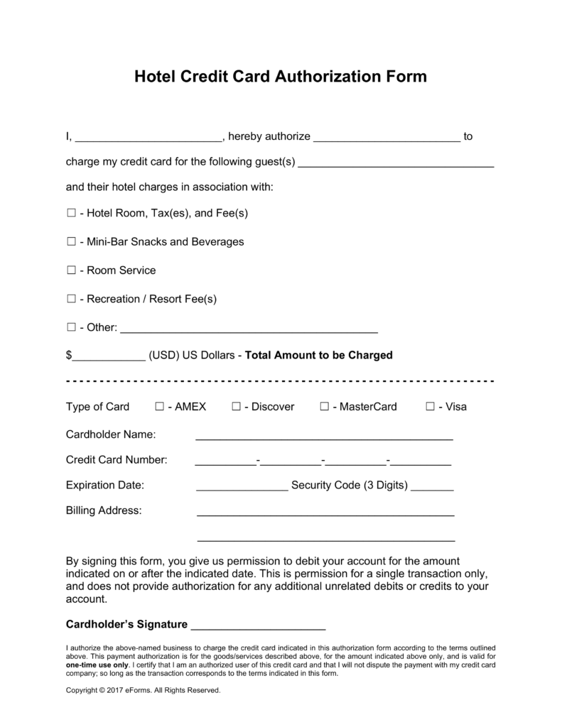 Credit Card Authorization Form | City of Milwaukie Oregon Official