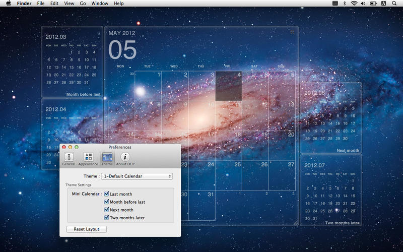 Desktop Calendar Plus 1.3.6 purchase for Mac | MacUpdate