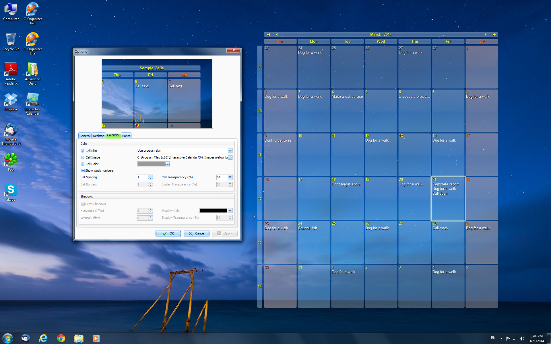Interactive Calendar software Screenshots | CSoftLab