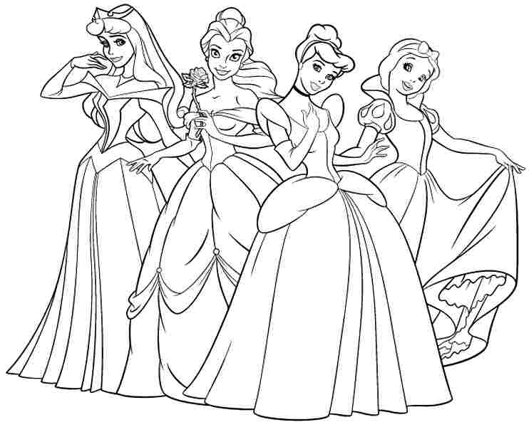 Best Disney Princess Coloring Pages Free Printable Coloring Free