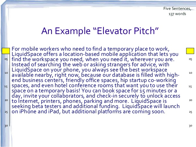 elevator pitch template | sop proposal