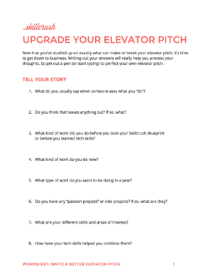 elevator pitch examples Roho.4senses.co