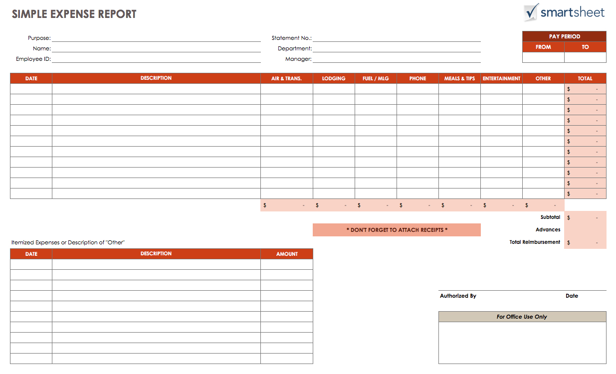 microsoft office expense report template microsoft expense report