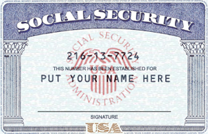 28 Images of Fake Social Security Card Template | tonibest.com