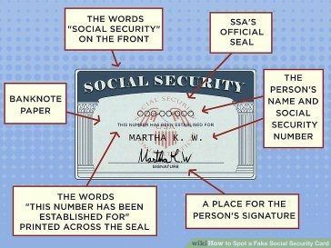 How to spot a fake social security number Quora