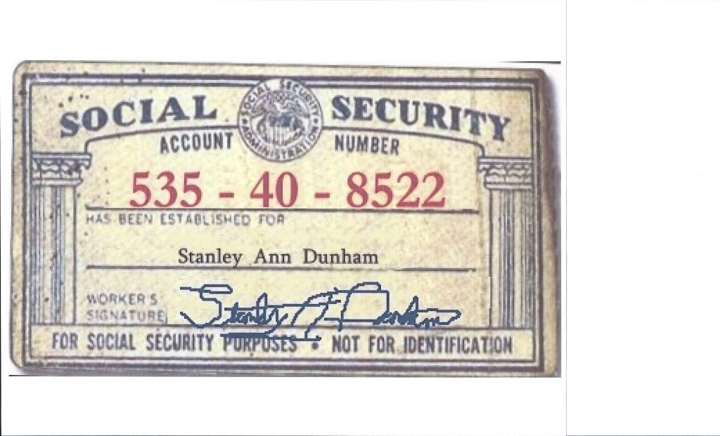 STANLEY ANN SOCIAL SECURITY NUMBER | Hillary 'n Me