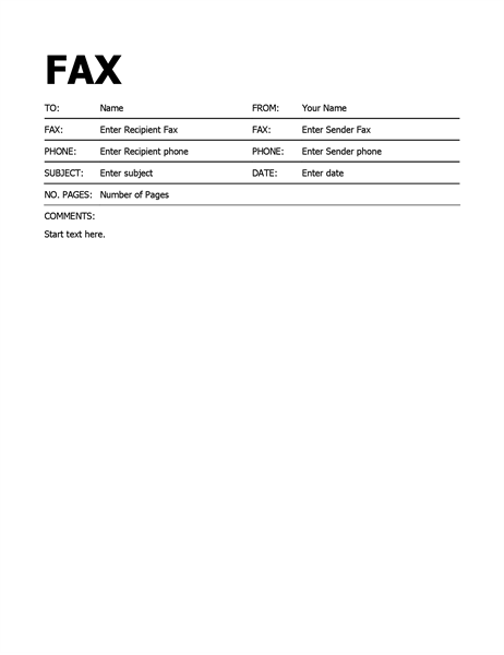 microsoft fax templates fax cover sheet template microsoft word