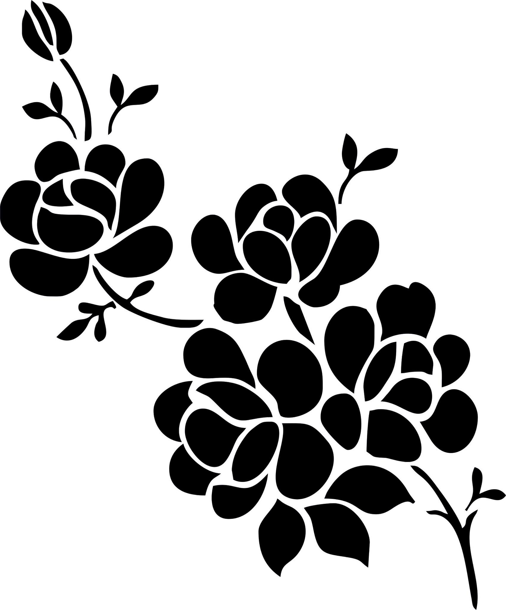 Elegant Black And White Flower Vector Art Image Free Download
