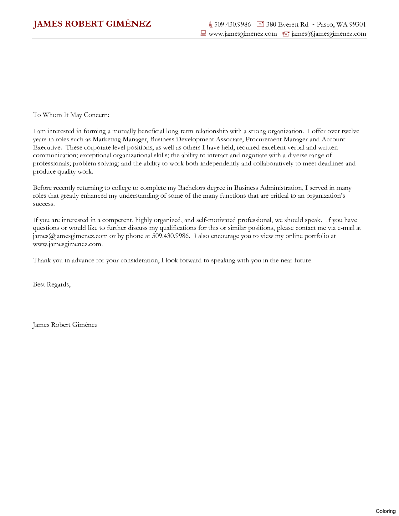 Generic Cover Letter Template Torte