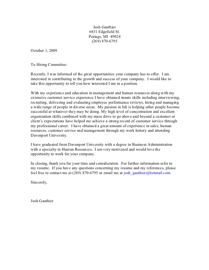 Generic Cover Letters General Purpose Cover Letter Letter Idea