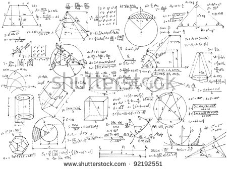 Background Hand Written Geometry Formulas Geometric Stock Photo