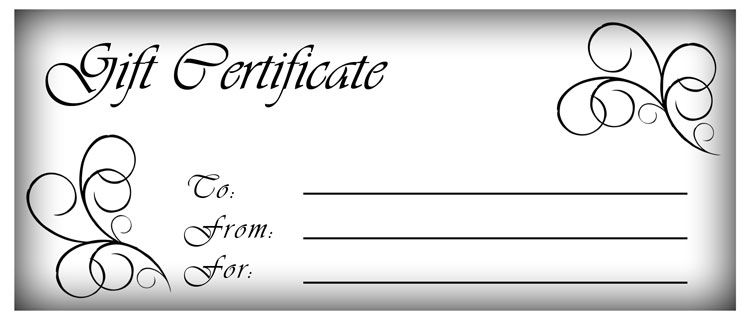 Free Gift Certificate Template | Customize Online and Print at Home