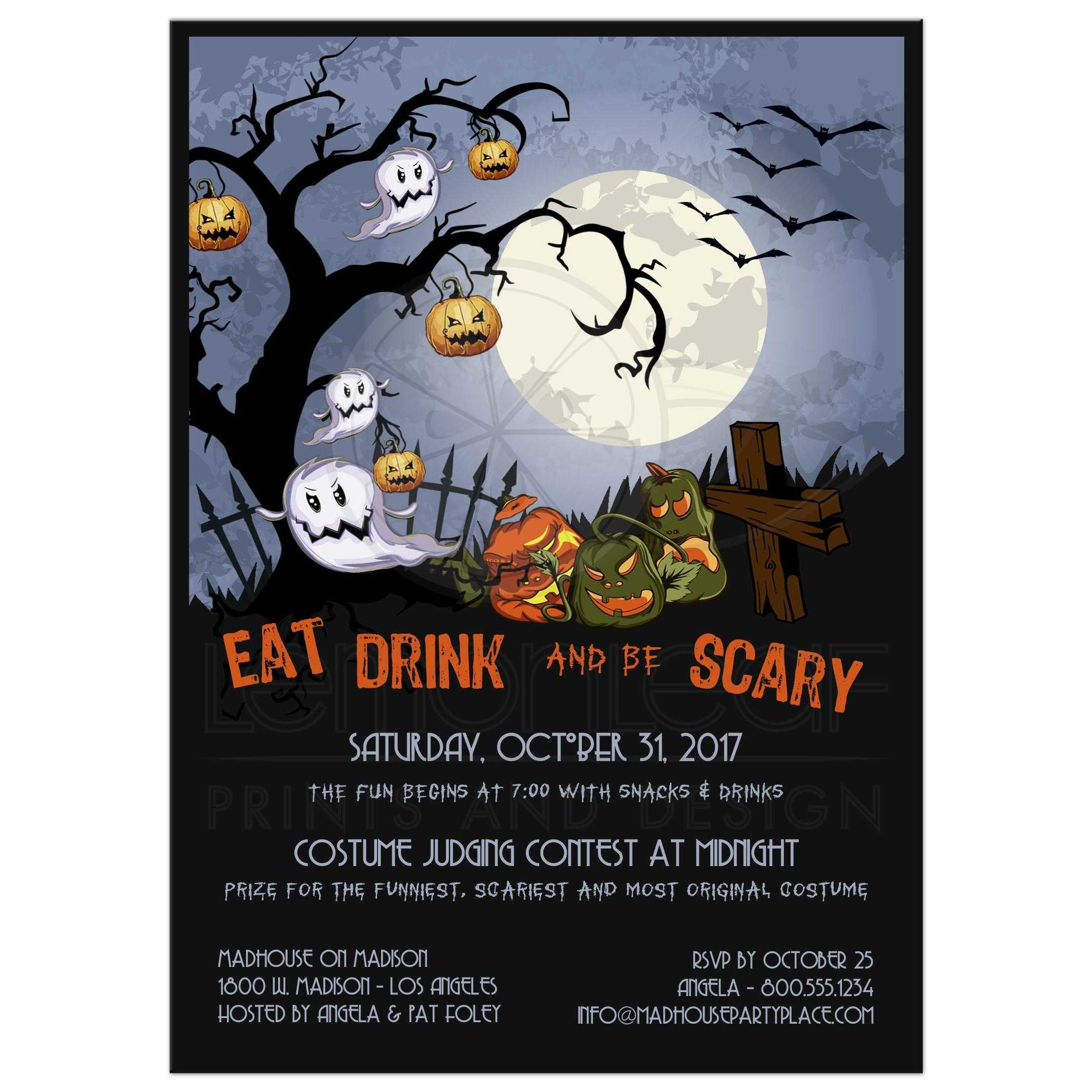 Patch Halloween Party Invitations Halloween Party Invitation