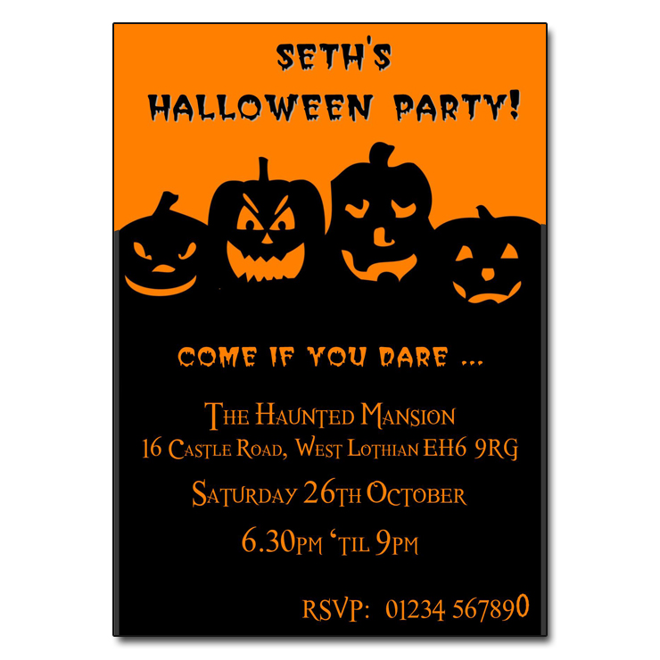 Typography Halloween Party Invitation | Zazzle.com