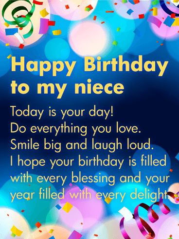Today is Your Day! Happy Birthday Wishes Card for Niece | Birthday