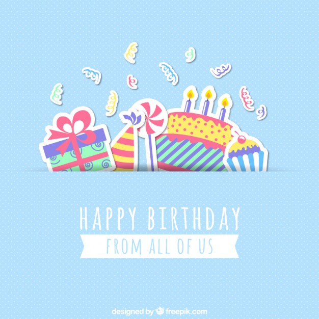 Happy birthday card Vector | Free Download