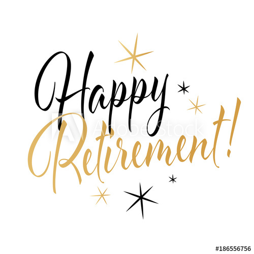 Happy retirement Buy this stock vector and explore similar