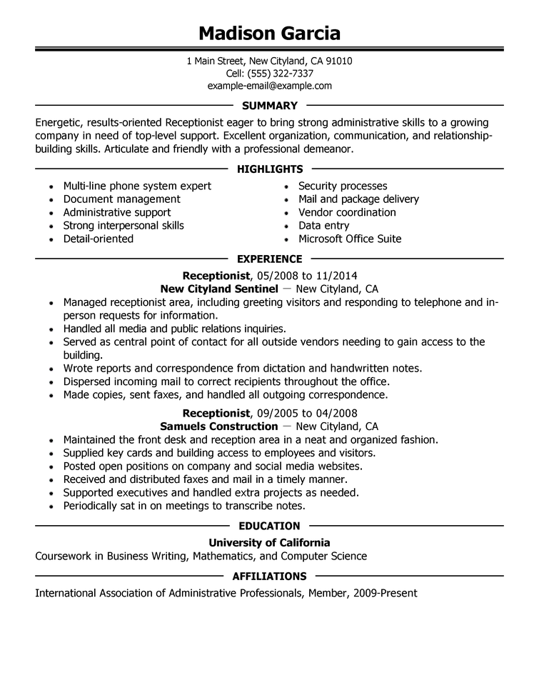 Example Of Resume For A Job Example Of A Resume For A Job On Job