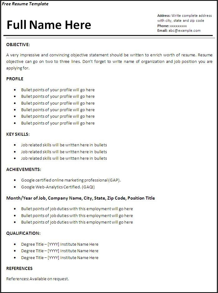 Job Resume Template Download Howtheygotthere Inside Job Resume
