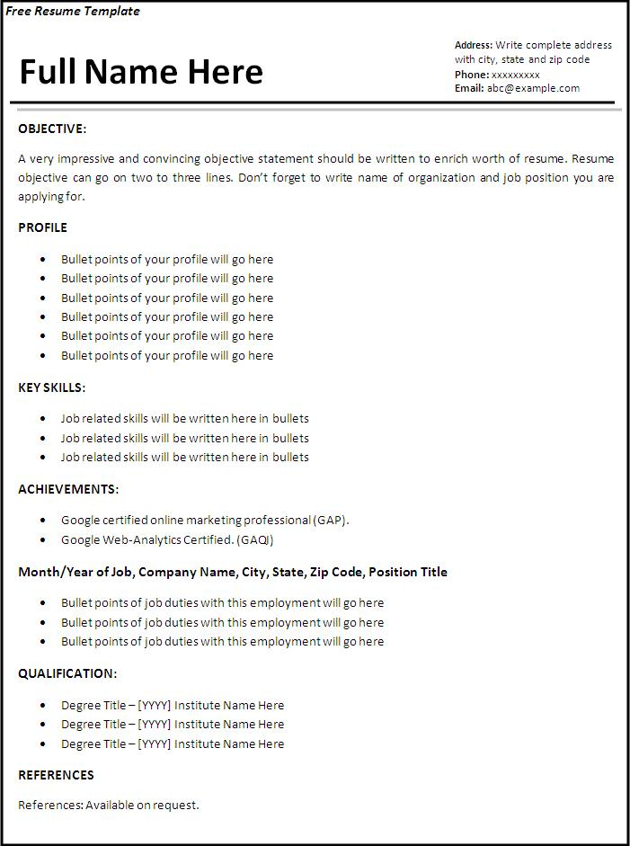 Job Resume Templates. College Student Resume Templates Microsoft