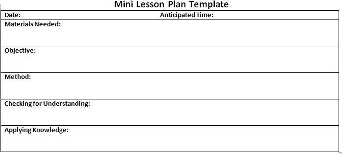 lesson planning format Incep.imagine ex.co