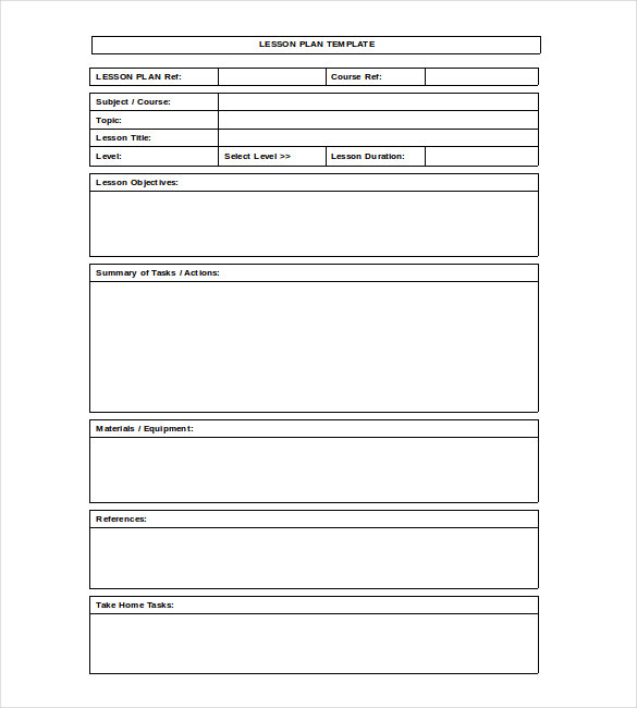 lesson plan template microsoft word blank lesson plan template 15