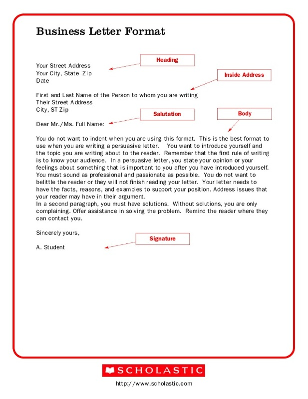 Business Letter Template for Word | Sample Business Letter