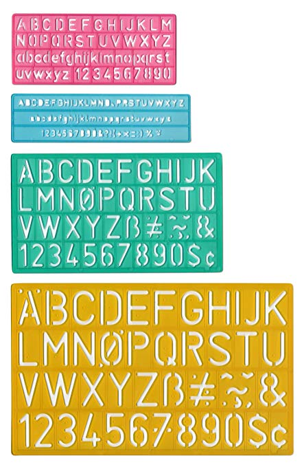 Amazon.: Letter Stencil Set, A Z, Reusable Polyethylene