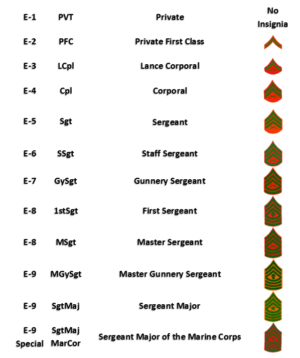 Military Rank Structure :