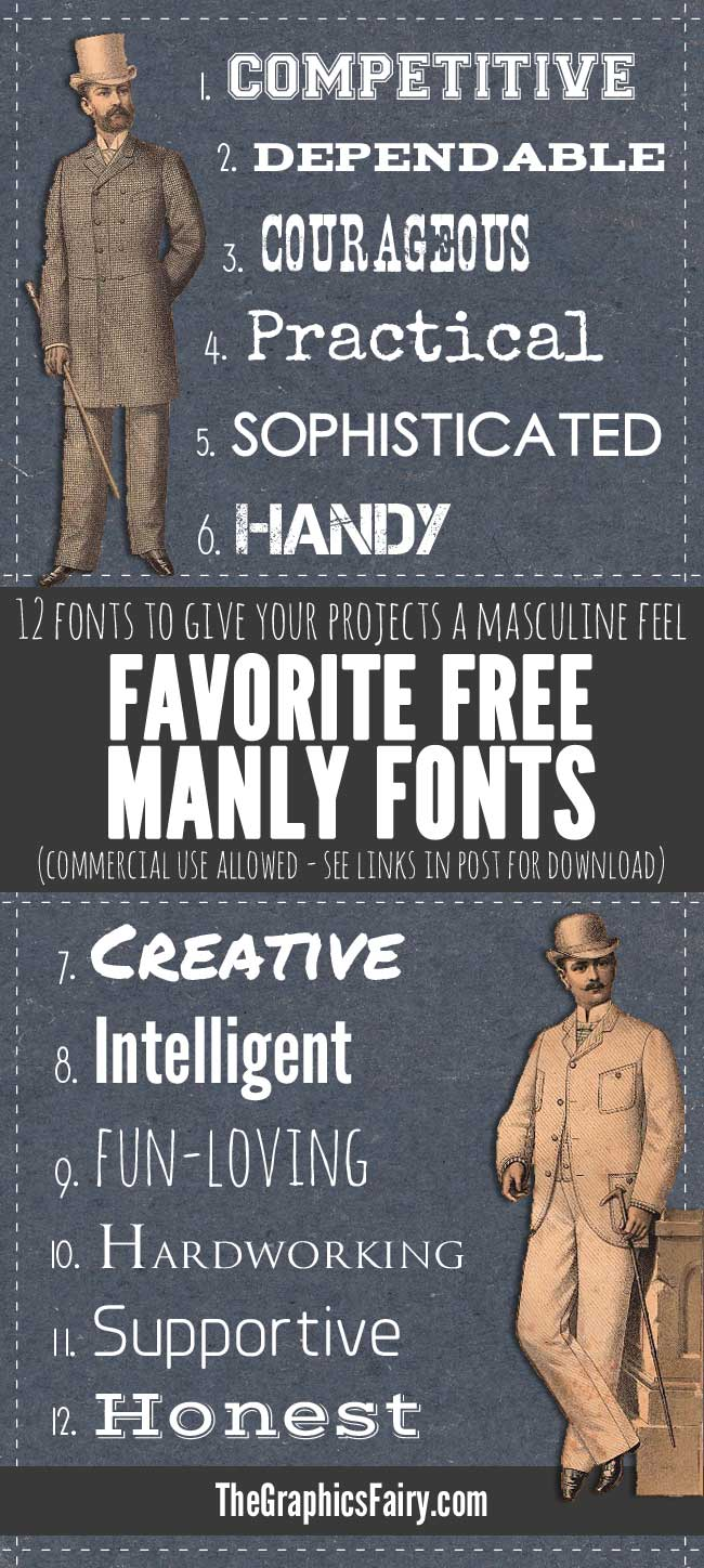 Manly Fonts Free Commercial Use The Graphics Fairy